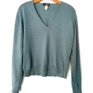 Gianni Versace Light Blue Cashmere Sweater SZ 8